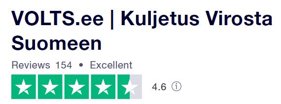 Kuljetus Virosta Suomeen.